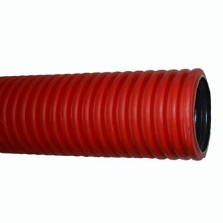 Труба защитная гофрированная двухстенная d 160  мм. Красная